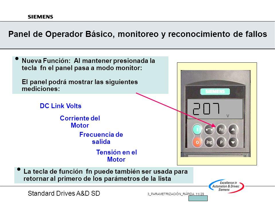 Panel de Operador Básico, monitoreo y reconocimiento de fallos