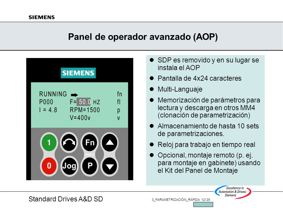 Panel de operador avanzado (AOP)