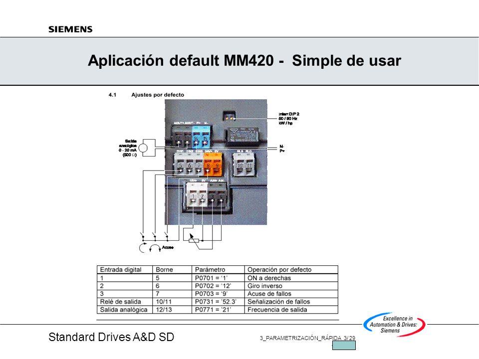 Aplicación default MM420 - Simple de usar