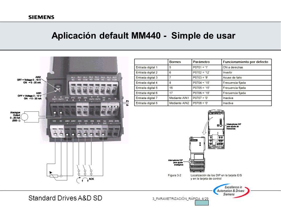 Aplicación default MM440 - Simple de usar