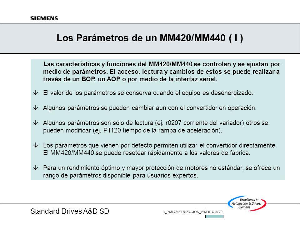 Los Parámetros de un MM420/MM440 ( I )