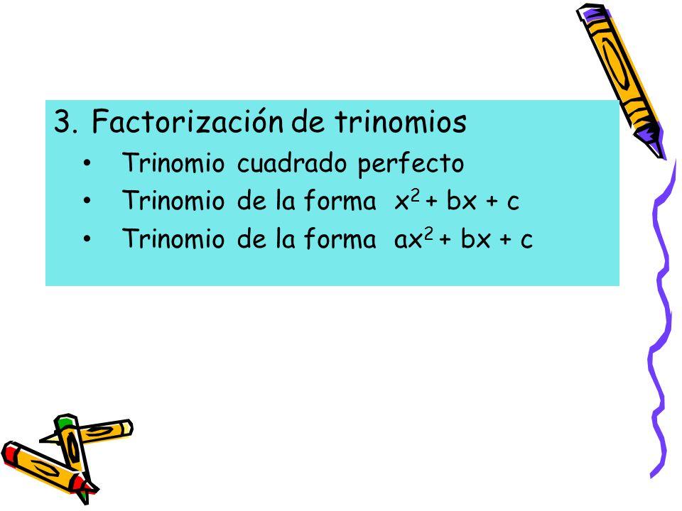 Factorización de trinomios