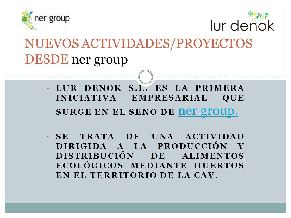 NUEVOS ACTIVIDADES/PROYECTOS DESDE ner group
