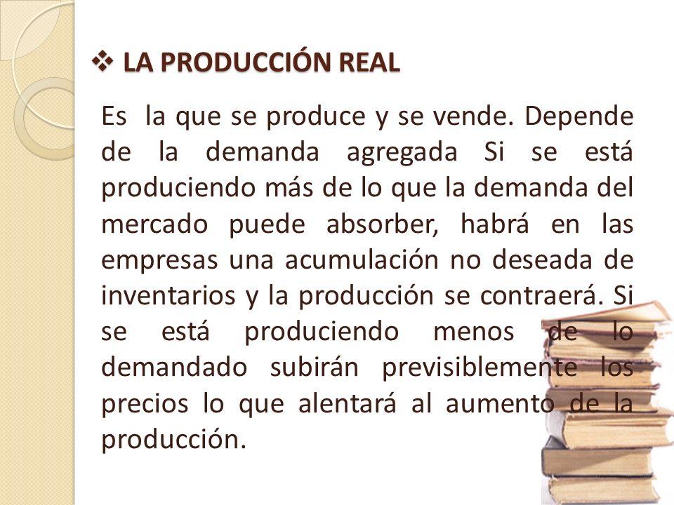 LA PRODUCCIÓN REAL