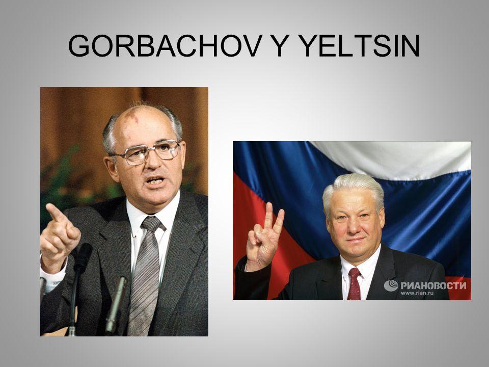 GORBACHOV Y YELTSIN