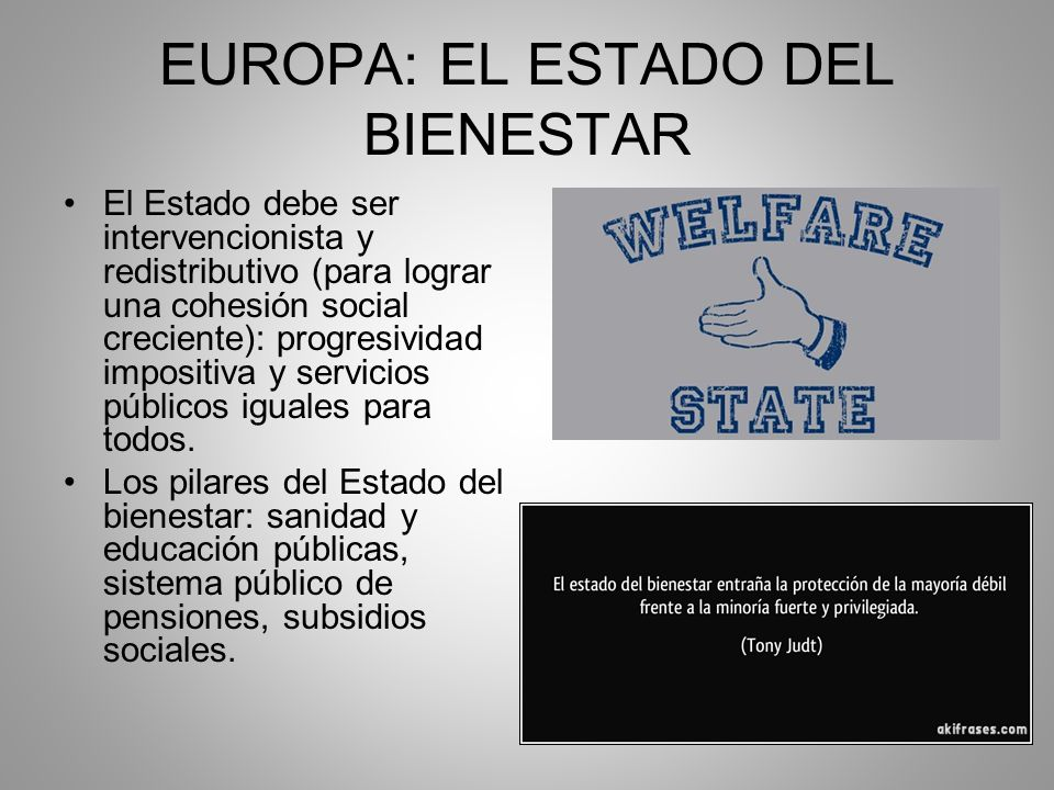 EUROPA: EL ESTADO DEL BIENESTAR