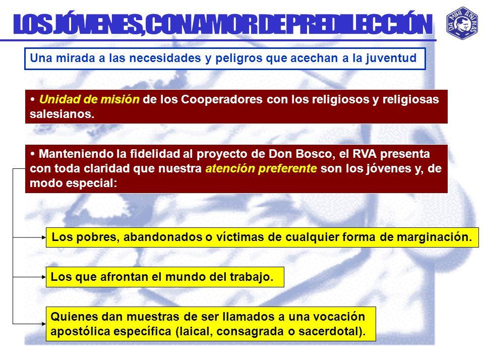 LOS JÓVENES, CON AMOR DE PREDILECCIÓN