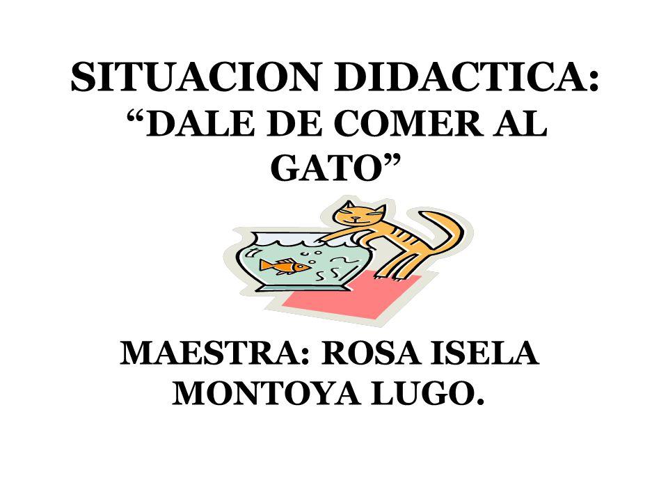 SITUACION DIDACTICA: DALE DE COMER AL GATO