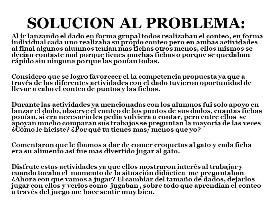 SOLUCION AL PROBLEMA: