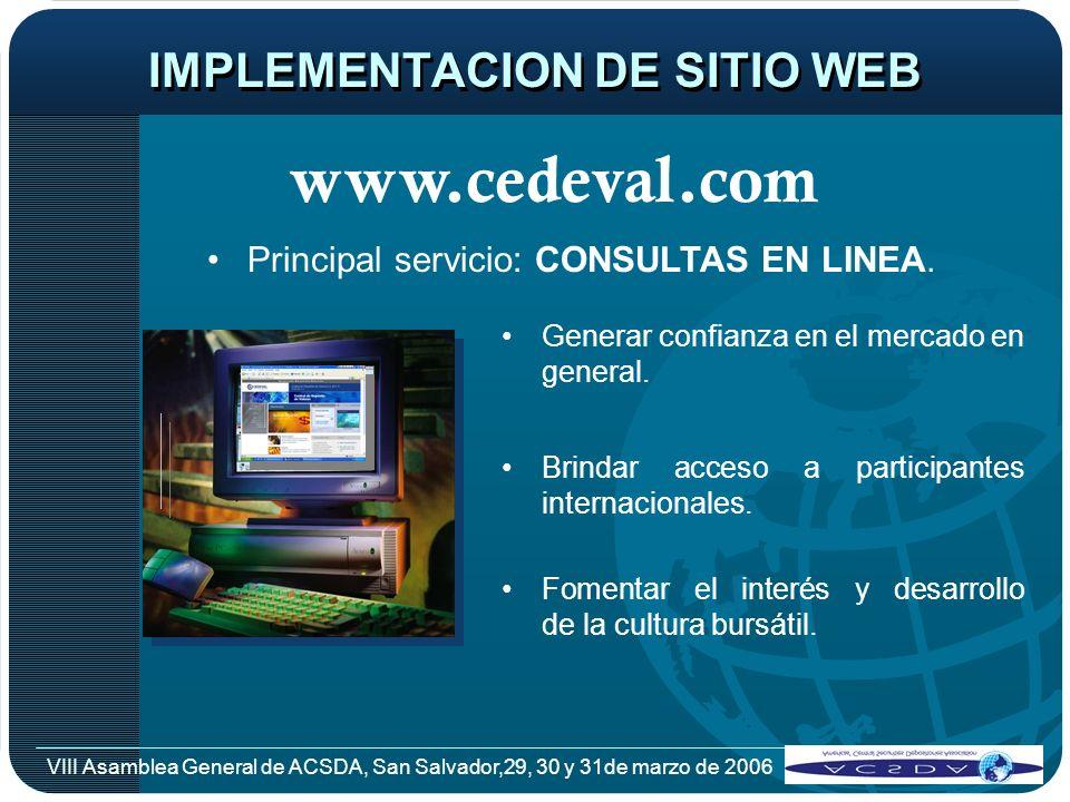 IMPLEMENTACION DE SITIO WEB