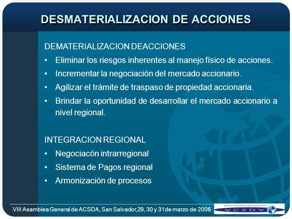 DESMATERIALIZACION DE ACCIONES