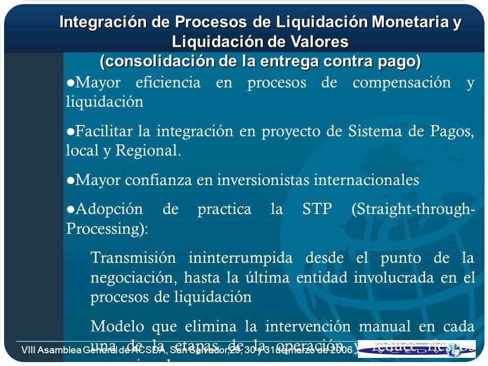 Mayor eficiencia en procesos de compensación y liquidación