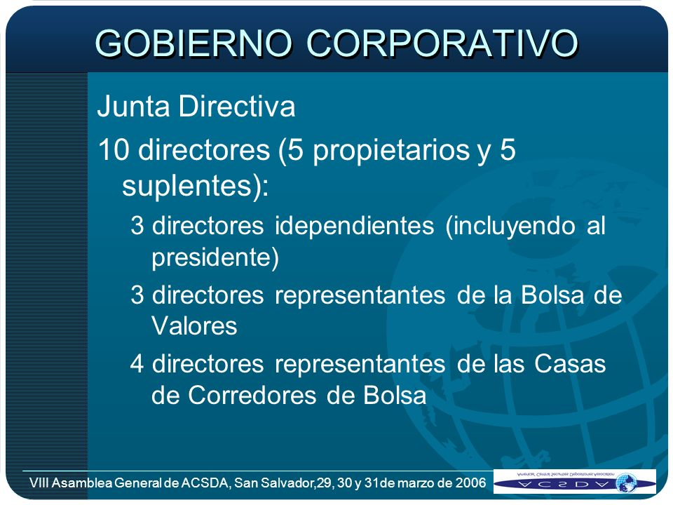 GOBIERNO CORPORATIVO Junta Directiva