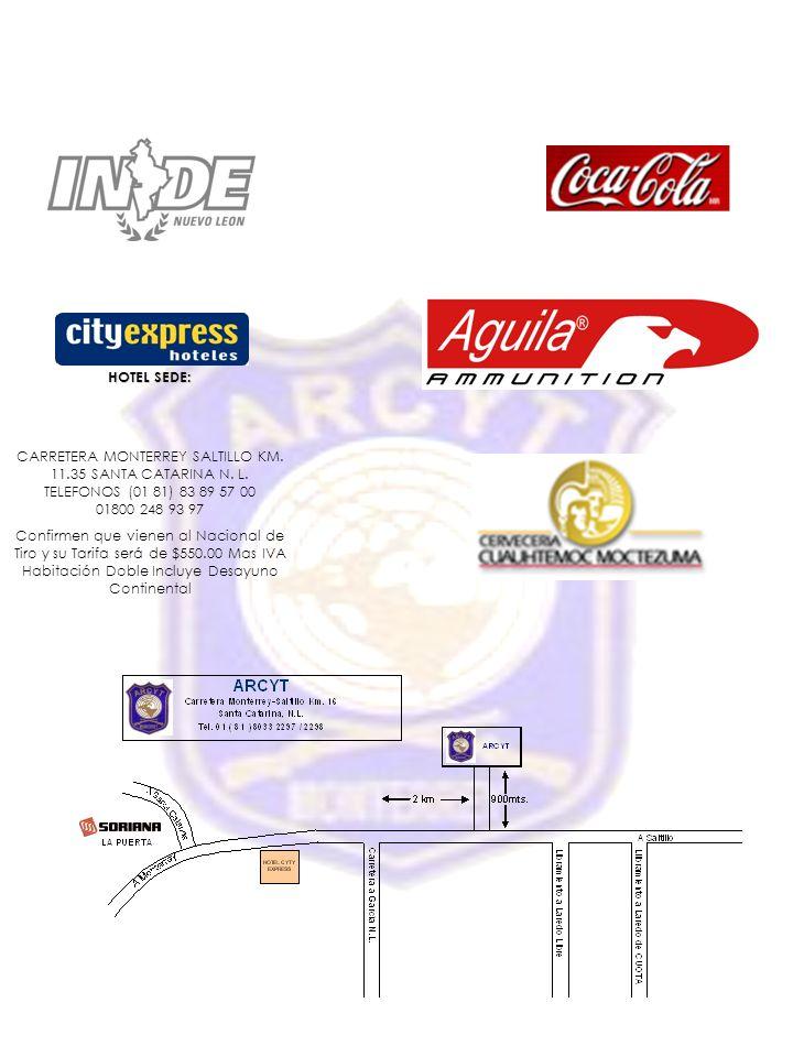 HOTEL SEDE: CARRETERA MONTERREY SALTILLO KM. 11.35 SANTA CATARINA N. L. TELEFONOS (01 81) 83 89 57 00 01800 248 93 97.