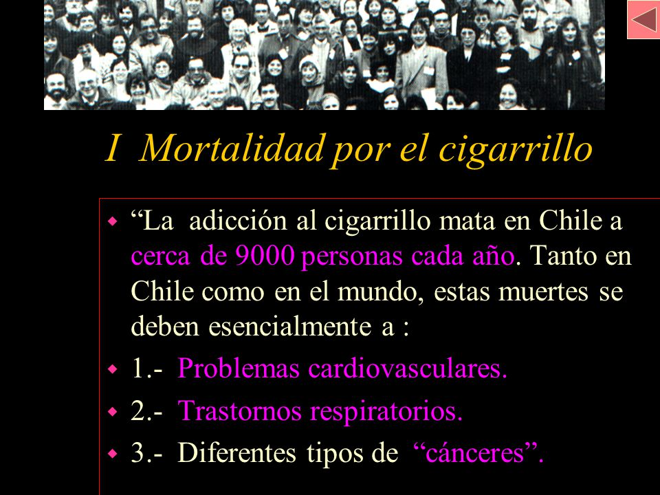 I Mortalidad por el cigarrillo