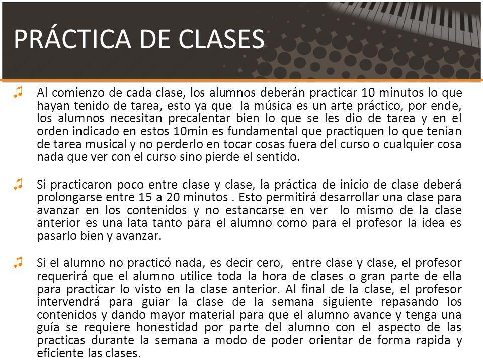 PRÁCTICA DE CLASES