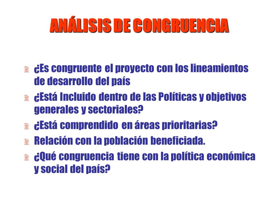 ANÁLISIS DE CONGRUENCIA