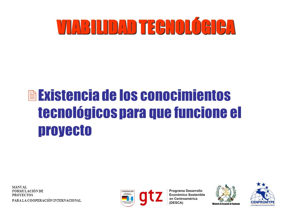 VIABILIDAD TECNOLÓGICA