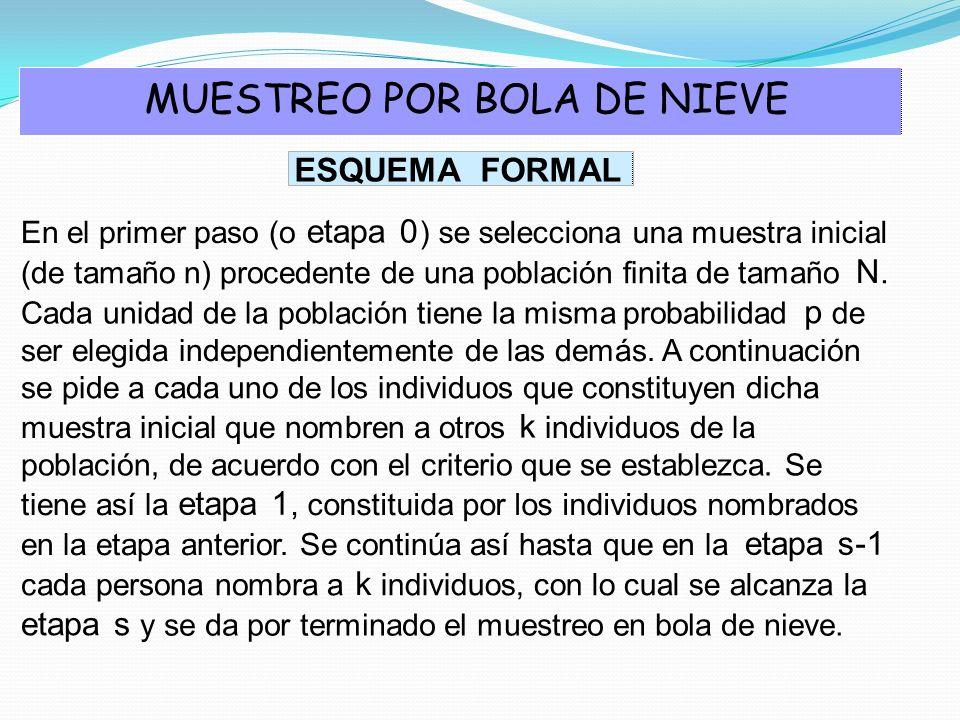 MUESTREO POR BOLA DE NIEVE