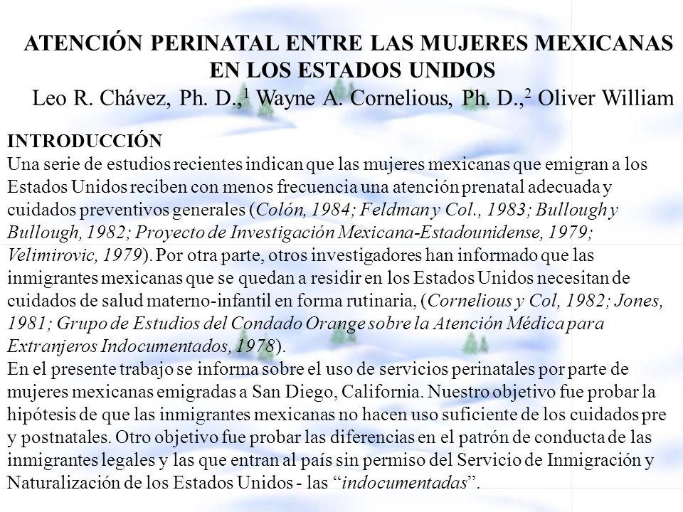 ATENCIÓN PERINATAL ENTRE LAS MUJERES MEXICANAS