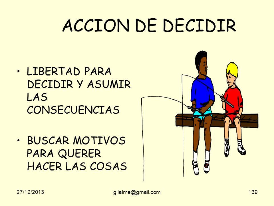ACCION DE DECIDIR LIBERTAD PARA DECIDIR Y ASUMIR LAS CONSECUENCIAS
