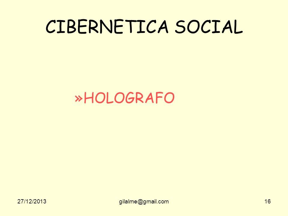 CIBERNETICA SOCIAL HOLOGRAFO 23/03/2017 gilalme@gmail.com