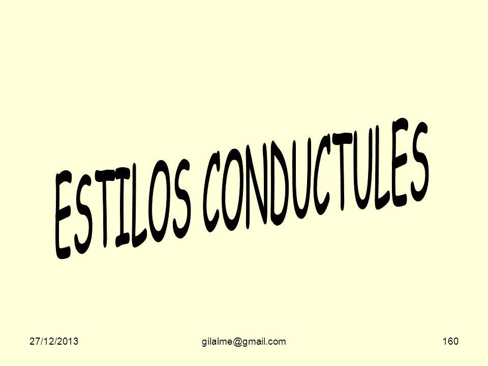 ESTILOS CONDUCTULES 23/03/2017 gilalme@gmail.com