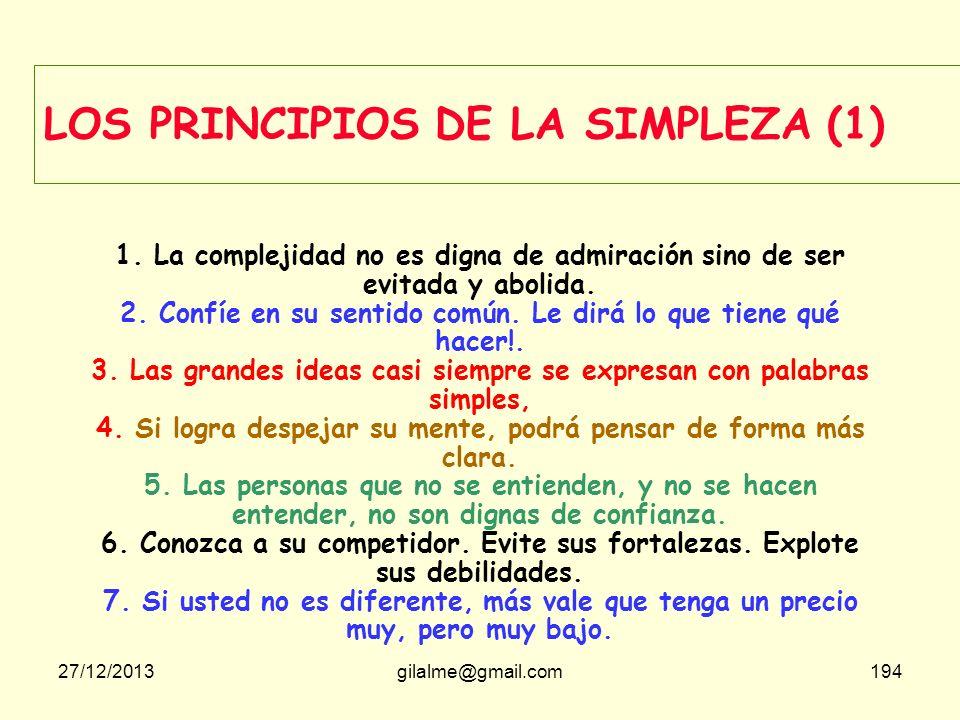 LOS PRINCIPIOS DE LA SIMPLEZA (1)