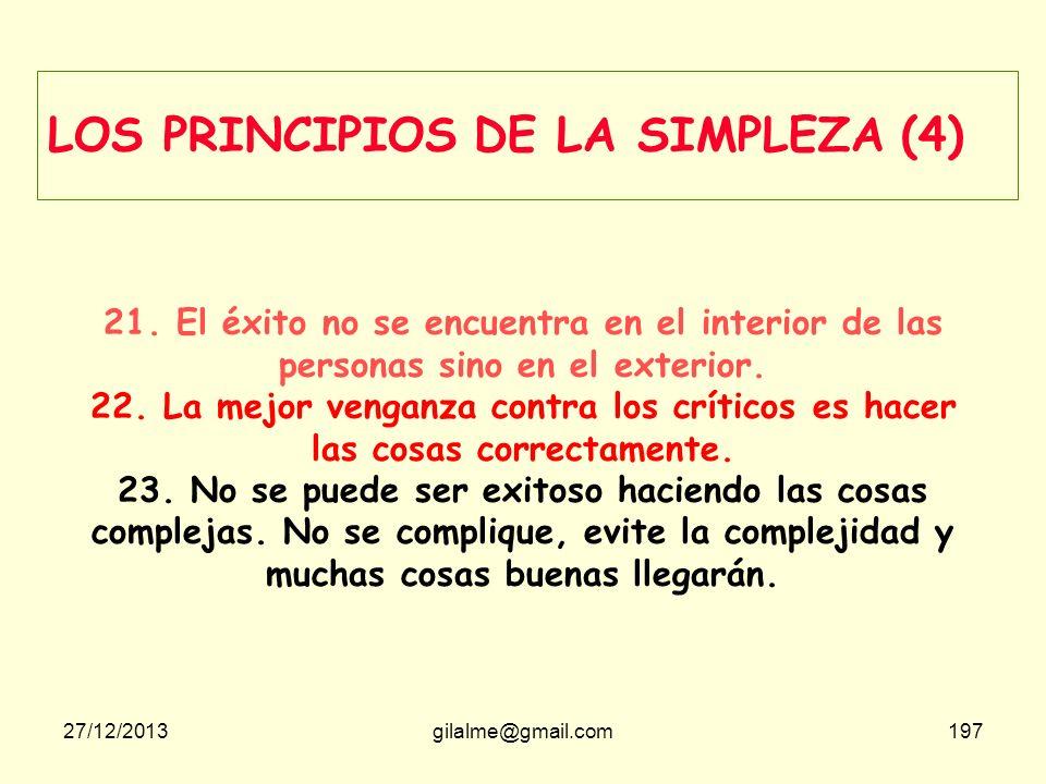 LOS PRINCIPIOS DE LA SIMPLEZA (4)