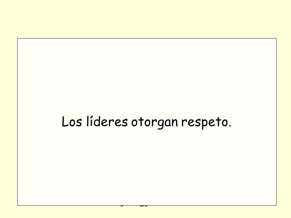 Los líderes otorgan respeto.