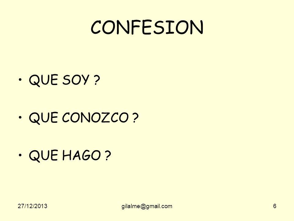 CONFESION QUE SOY QUE CONOZCO QUE HAGO 23/03/2017