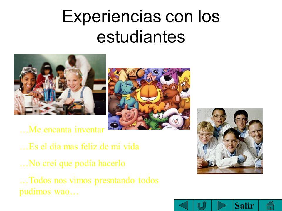 Experiencias con los estudiantes