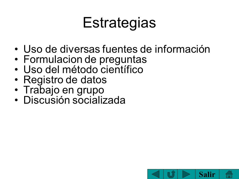 Estrategias Uso de diversas fuentes de información