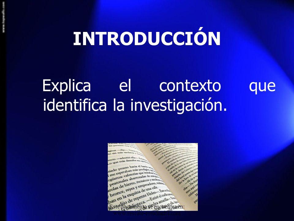 Este documento se encuentra en: www.rescate-estudiantil.com