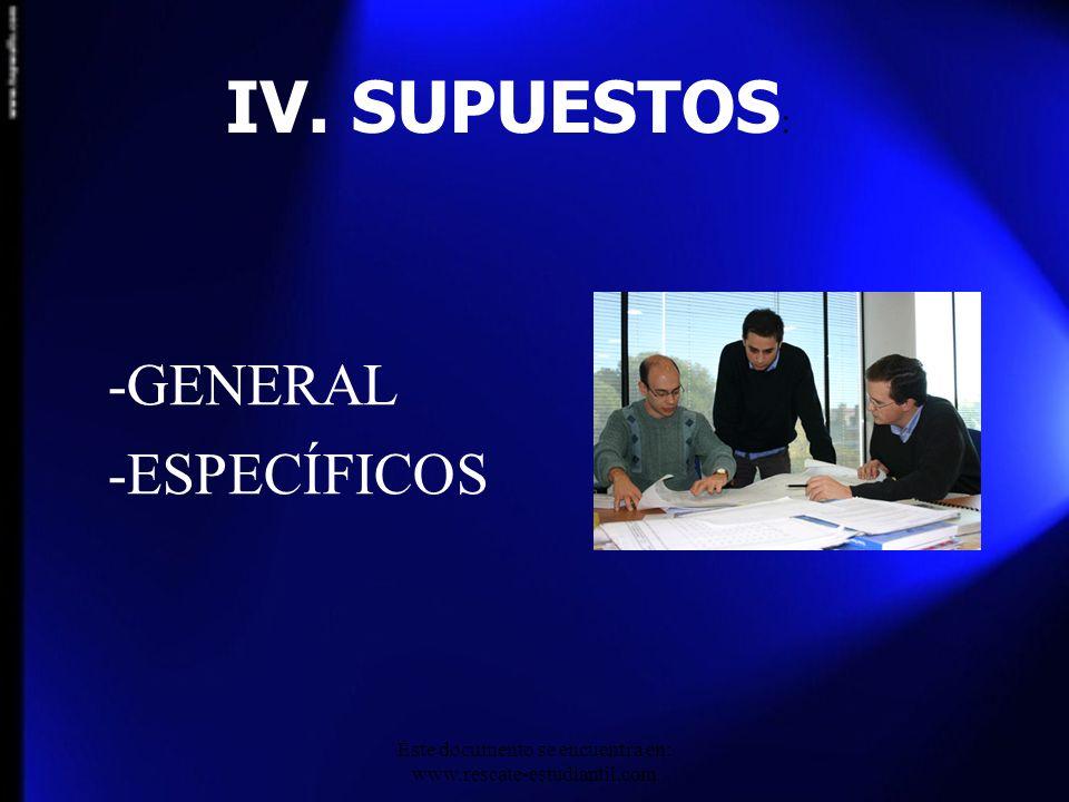 -GENERAL -ESPECÍFICOS