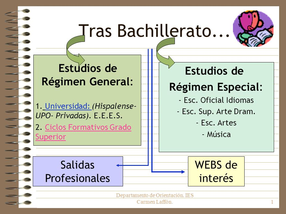 Tras Bachillerato... Estudios de Régimen General: Estudios de