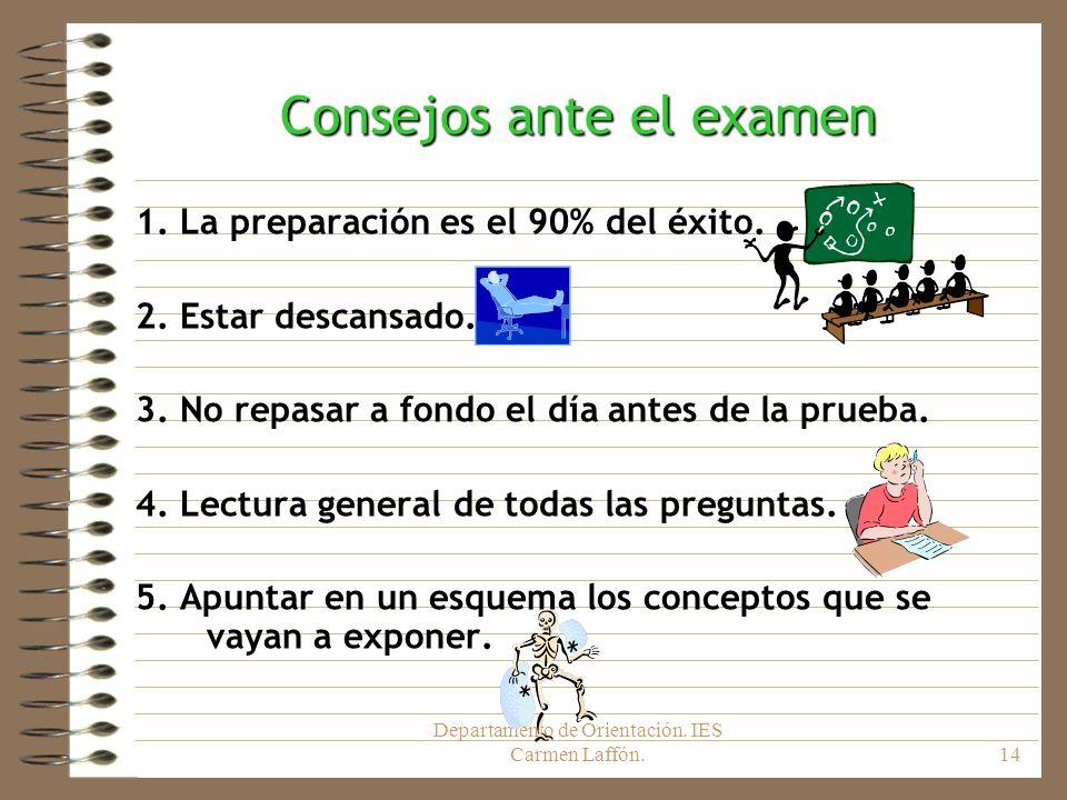 Consejos ante el examen