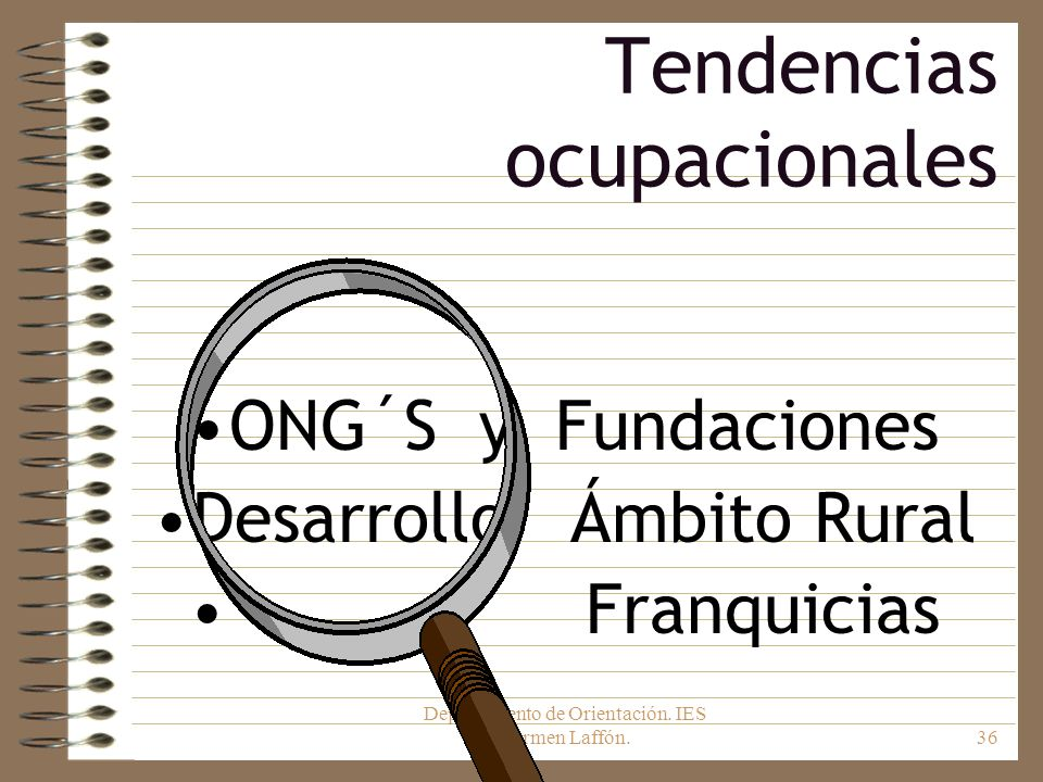 Tendencias ocupacionales