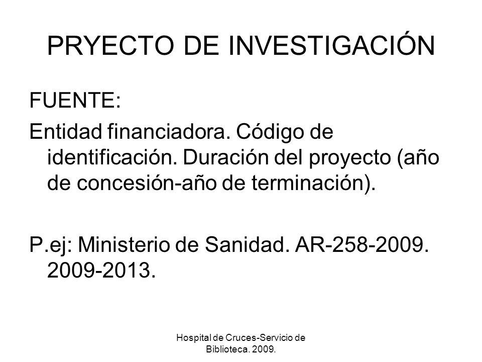 PRYECTO DE INVESTIGACIÓN