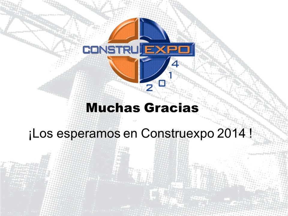 ¡Los esperamos en Construexpo 2014 !