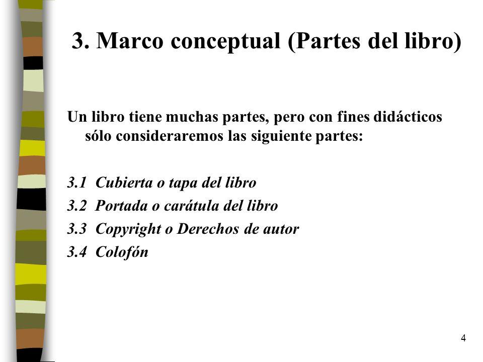 3. Marco conceptual (Partes del libro)