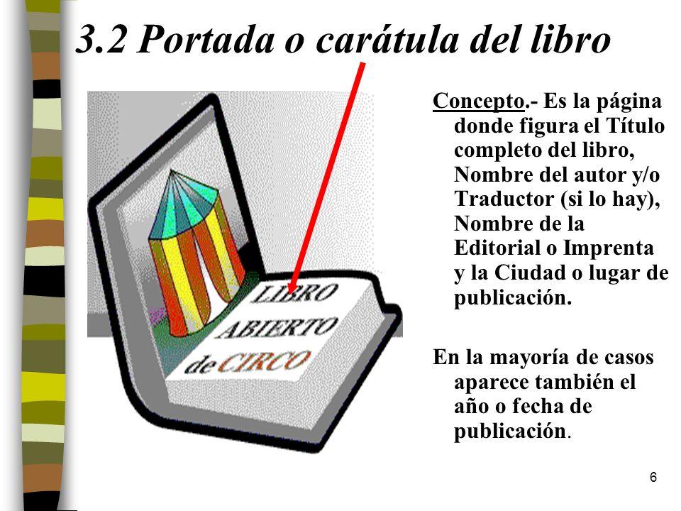 3.2 Portada o carátula del libro