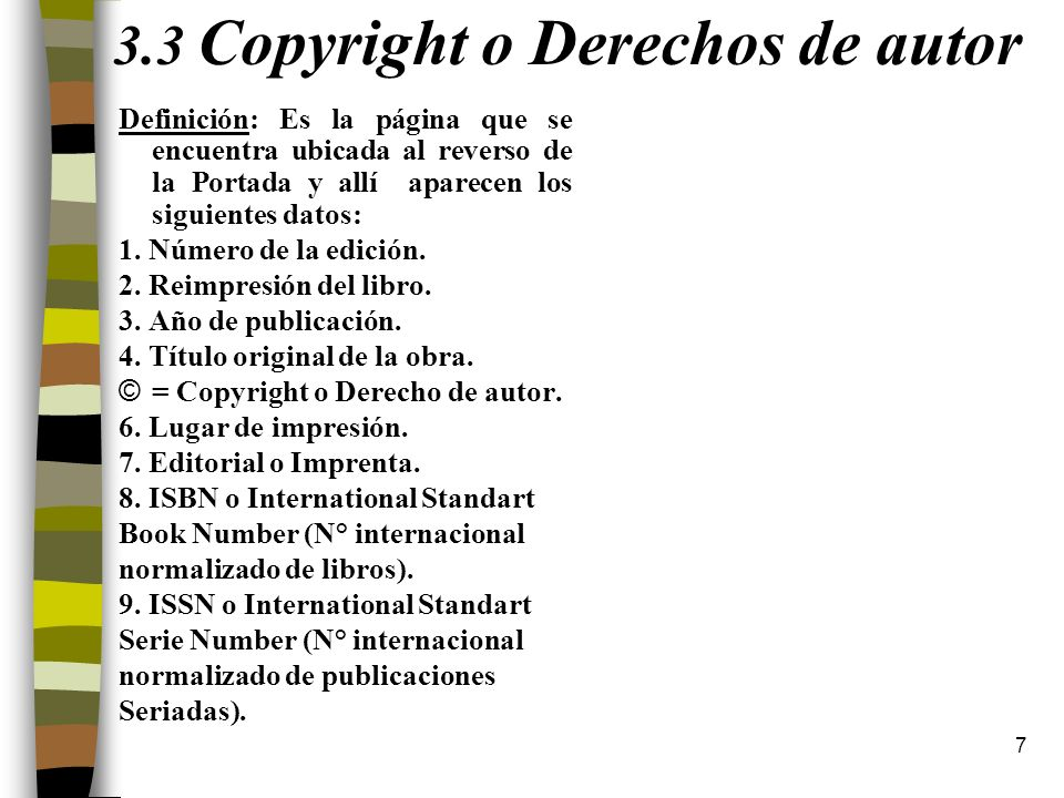 3.3 Copyright o Derechos de autor