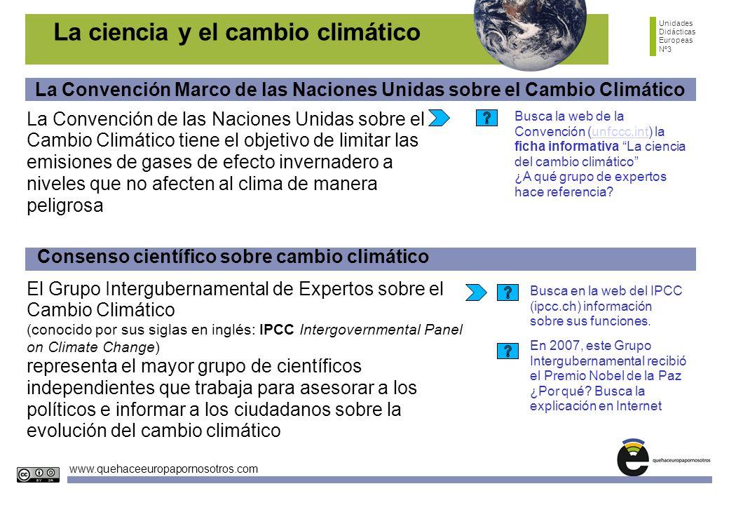 La ciencia y el cambio climático