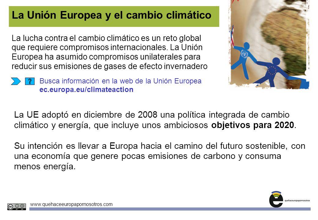 La Unión Europea y el cambio climático
