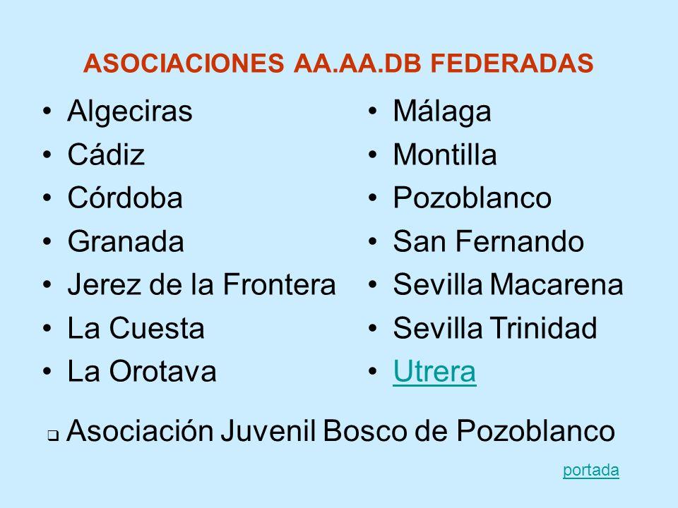 ASOCIACIONES AA.AA.DB FEDERADAS