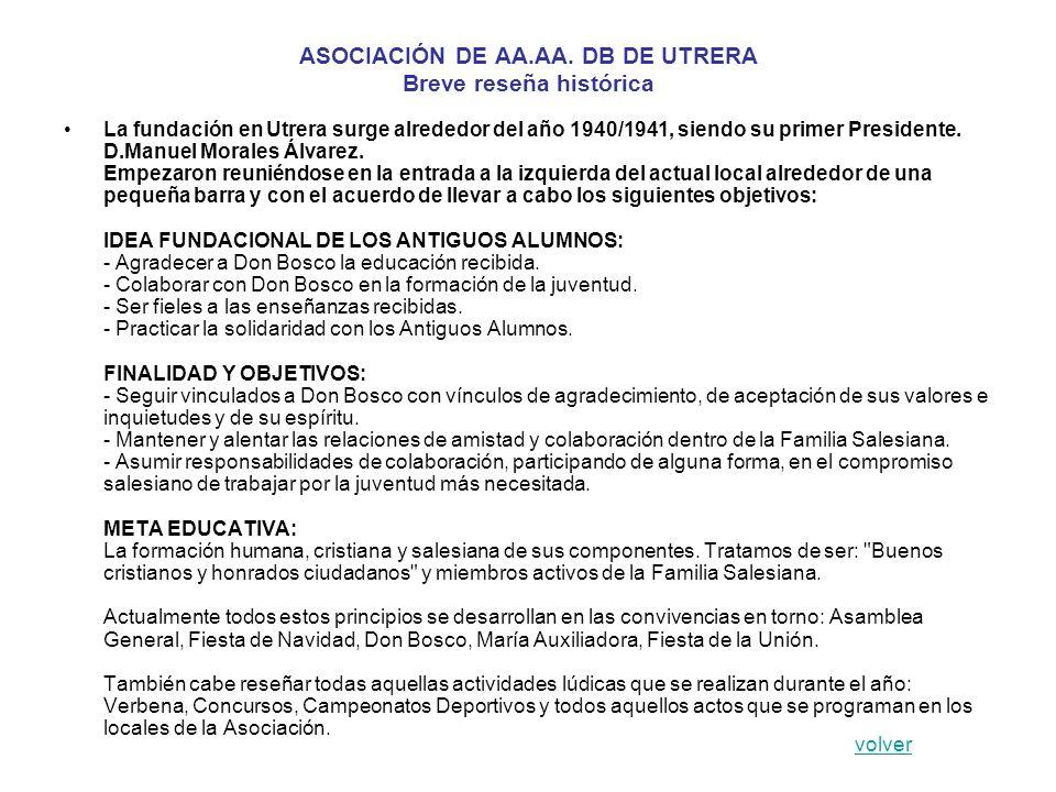 ASOCIACIÓN DE AA.AA. DB DE UTRERA Breve reseña histórica