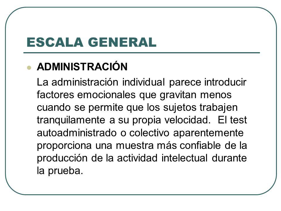 ESCALA GENERAL ADMINISTRACIÓN