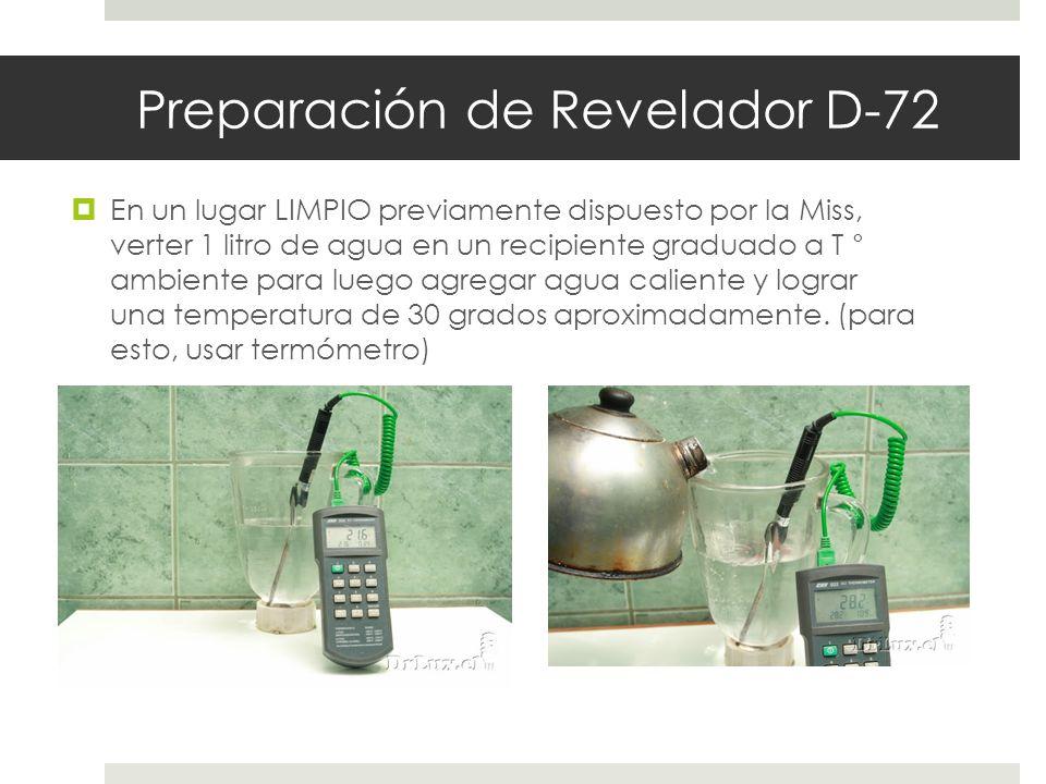 Preparación de Revelador D-72