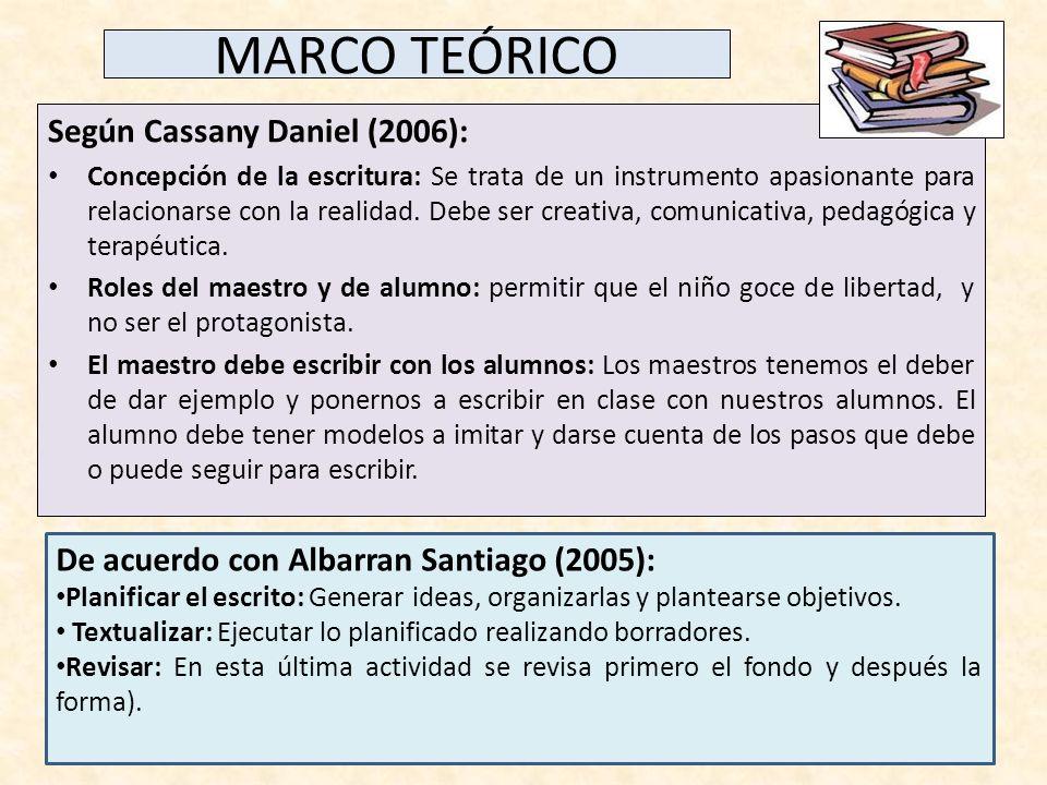 MARCO TEÓRICO Según Cassany Daniel (2006):